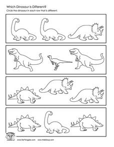 Which Dinosaur is Different? Worksheet