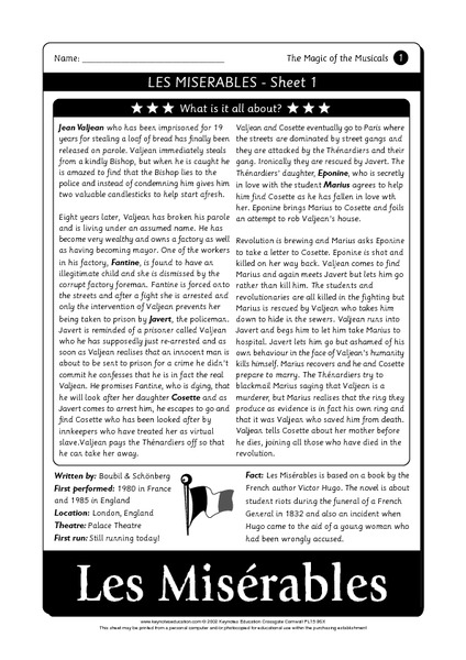 Musical Theatre Lesson Plans Worksheets Reviewed By Teachers