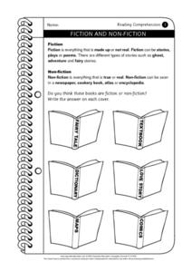 Fiction and Non-Fiction Worksheet for 3rd - 4th Grade | Lesson Planet