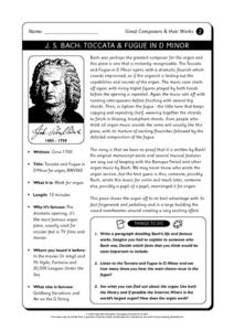 Great Composers and Their Works Worksheet