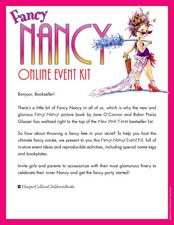 Fancy Nancy Online Event Kit Activities & Project