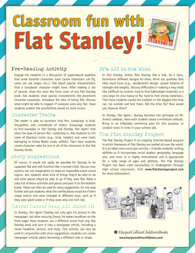 Flat Stanley Lesson Plans Worksheets Reviewed by Teachers – Flat Stanley Worksheets