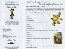 Activity Suggestions for When Everybody Wore a Hat Lesson Plan