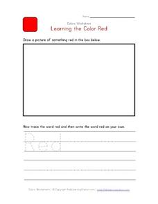 Learning the Color Red Worksheet