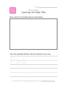 Learning the Color Pink Worksheet