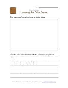 Learning the Color Brown Worksheet