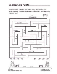 A-maze-ing Facts Worksheet