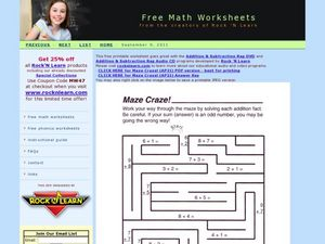 Maze Craze! Worksheet