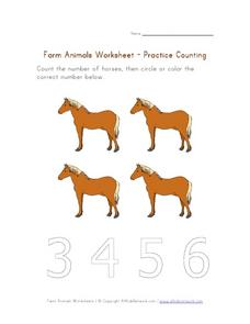 Count the Horses Worksheet