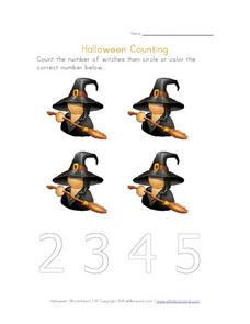 Halloween Counting 3 Worksheet
