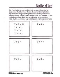 Families of Facts Worksheet