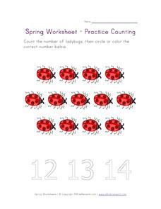 Spring Worksheet-Practice Counting #2 Worksheet
