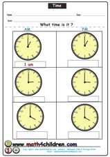 What Time Is It? #2 Worksheet