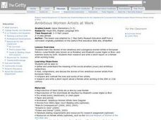 Ambitious Women Artists At Work Lesson Plan
