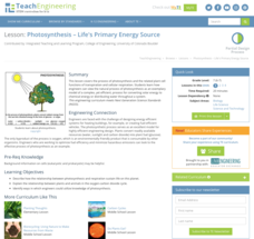Photosynthesis—Life's Primary Energy Source Lesson Plan