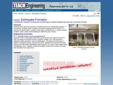 Earthquake Formation Lesson Plan