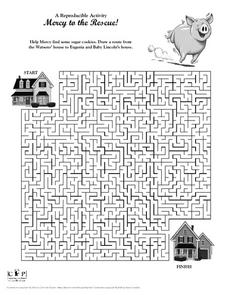 Mercy to the Rescue! Maze Activity Worksheet