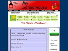 The Planets - Vocabulary Interactive