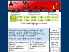 Cultural Sayings - Idioms Interactive