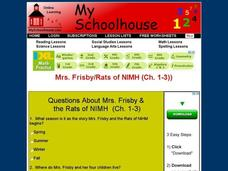 Mrs. Frisby and the Rats of NIMH (Ch. 1-3) Interactive