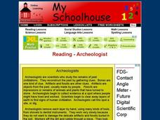Reading - Archeologist Interactive