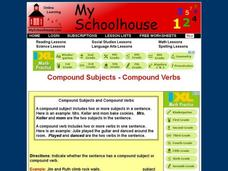 Compound Subjects - Compound Verbs Interactive
