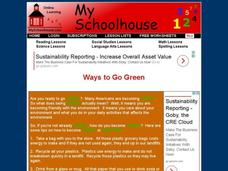 Ways To Go Green Interactive