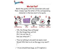 Dr. Seuss Quotes Interactive