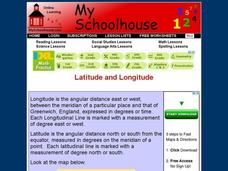 Latitude and Longitude- Online Interactive Interactive
