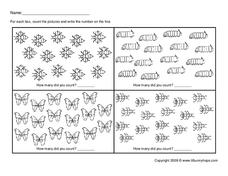 Counting Pictures Worksheet