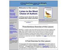 Listen to the Word Choice of Authors Lesson Plan