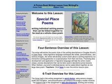 Special Place Poems Lesson Plan