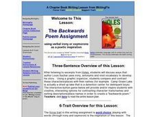 The Backwards Poem Assignment Lesson Plan