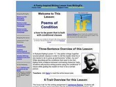Poems of Condition Lesson Plan