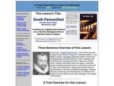 Death Personified Lesson Plan