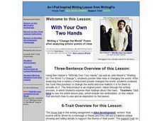 With Your Own Two Hands Lesson Plan