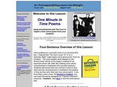 One Minute in Time Poems Lesson Plan