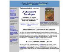 A Character's Decalogue Lesson Plan