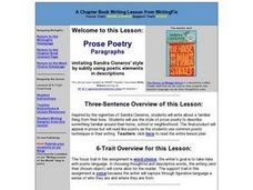 Prose Poetry Paragraphs Lesson Plan