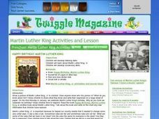 Happy Birthday Martin Luther King Lesson Plan