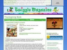 Thanksgiving Literacy Activity Lesson Plan