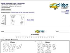 Counting Practice Worksheet