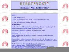 What Is Electricity Lesson Plan