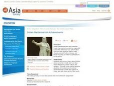 Indian Mathematical Achievements Lesson Plan