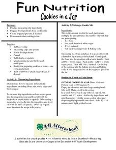 Fun Nutrition- Cookies in a Jar Lesson Plan