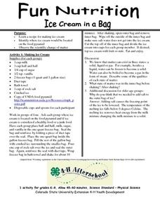 Fun Nutrition- Ice Cream in a Bag Lesson Plan