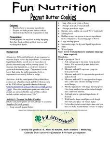 Fun Nutrition- Peanut Butter Cookies Lesson Plan