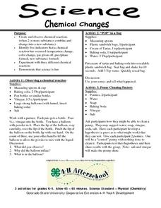 Science- Chemical Changes Lesson Plan