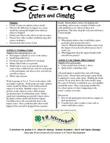 Science- Craters and Climates Lesson Plan