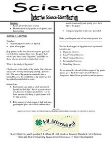 Science- Detective Science-Identification Lesson Plan